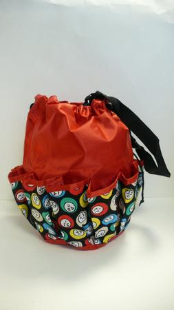 10 Pocket Drawstring Bingo Balls Bag