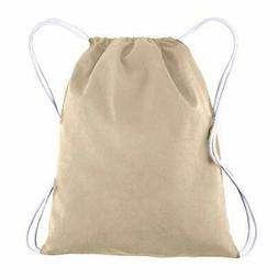 BagzDepot 100% COTTON Budget Friendly Sport Drawstring Bag
