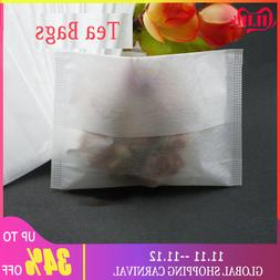 100Pcs Disposable <font><b>Drawstring</b></font> Empty Tea <