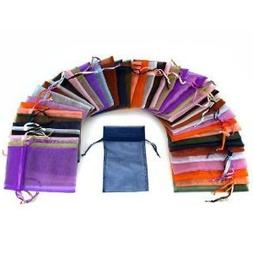 108 pcs drawstring Organza Jewelry Pouch Bags by Aketek
