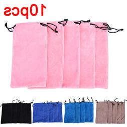 10pcs <font><b>Drawstring</b></font> Sunglass <font><b>Bag</