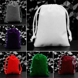 25x Small Gift Bag Velvet Cloth Drawstring Bag Jewelry Ring