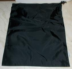 "LULULEMON 15"" X 18"" NYLON BLACK DRAWSTRING CINCH SHOE BAG PA"