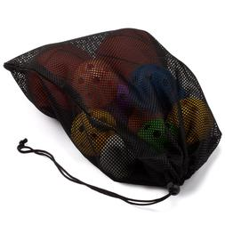 "18""x12"" Mesh Drawstring Bag For Sports Ball Equipment, Beach"