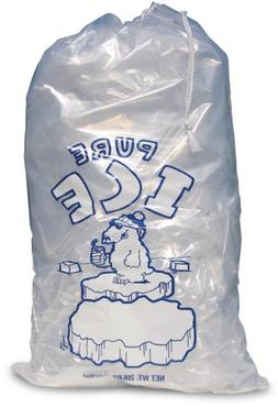 TFD Supplies 20 ea. 20lb Clear Ice Bag with Drawstring