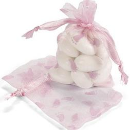 24 ct - Girl Baby Shower Organza Bags - Pink