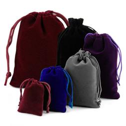 25-100 Velvet Drawstring Pouch Jewelry Baggie Ring Party Wed