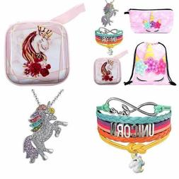 5 Unicorn Gifts Set For Girls Drawstring Backpack/Unicorn Ma