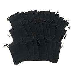 Tytroy 50 Black Velvet Cloth Travel Jewelry Pouches / Drawst
