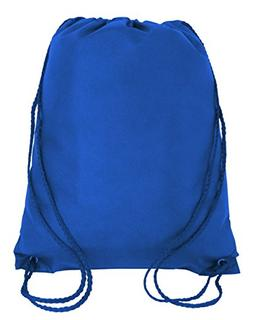 50 PACK - Economical Non Woven Well Made Drawstring Backpack