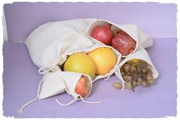 6 x 8 inch 100% cotton Premium Double Drawstring Muslin Bags