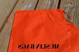 6x8 inch ORANGE Double Drawstring bags~25,50,100,200