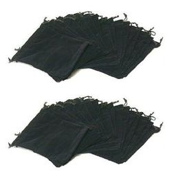 "AOMGD 1 X Pack Of 25 Large 7"" X 5"" Pouches - Elegant Black V"