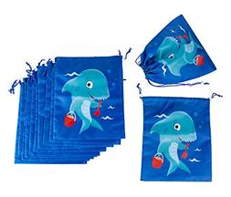 Drawstring Bags - 12-Pack Party Favor Bag for Kids Birthday,