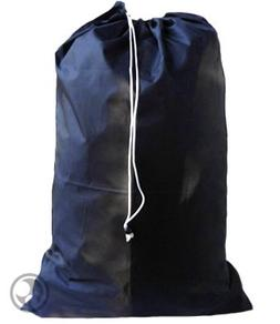 Extra Large Laundry Bag with Drawstring, Color: Navy Blue, J