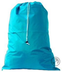 Extra Large Laundry Bag with Drawstring, Color: Teal, *Size:
