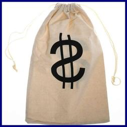 "Large ""$"" Money Drawstring Bag PARTY"