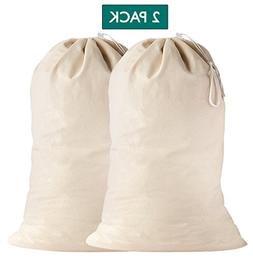 Lino Mantra 2 Pack, Laundry Bags in Natural Color, 28 INCH X