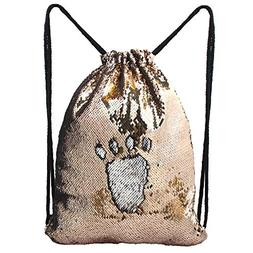 MHJY Mermaid Bag Sequin Drawstring Backpack Dancing Bag Fash