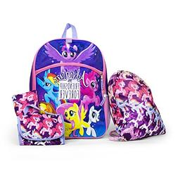 MY Little Pony Backpack School Supplies For Kids Bag Set Uni