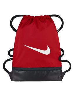 NIKE BRASILIA GYMSACK RED/BLACK/WHITE DRAWSTRING BAG BACKPAC