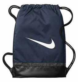 NIKE Brasilia Gymsack, Midnight Navy/Black/White, One Size