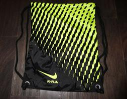 Nike Alpha mens womens drawstring bag Volt black NWOT new Gy