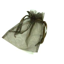 *ONE* Brown Organza Drawstring Bag Pouch 6x8inch C25-XX Jewe
