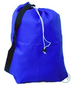 Small Laundry Bag with Drawstring, Carry Strap, Locking Clos