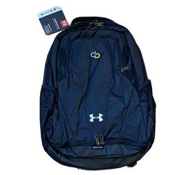 Under Armour Team Hustle 3.0 Backpack, Black//Silver, One Si