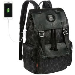 Vbiger Laptop Drawstring USB Backpack LARGE Capacity Bag Tra
