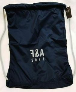 ABERCROMBIE & FITCH LIGHT NAVY COLOR Drawstring & NYLON Bag