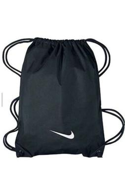 NIKE BLACK NYLON DRAWSTRING GYM BAG BACKPACK