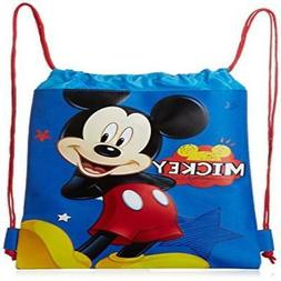 Blue Mickey Mouse Drawstring Backpack - Large Drawsting Bag
