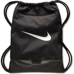 NIKE BRASILIA 9 GYMSACK BLACK/WHITE DRAWSTRING BAG BACKPACK