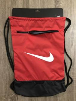NIKE BRASILIA 9 GYMSACK RED/BLACK/WHITE DRAWSTRING BAG BACKP