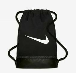 NIKE BRASILIA GYMSACK BLACK/WHITE DRAWSTRING BAG BACKPACK GY
