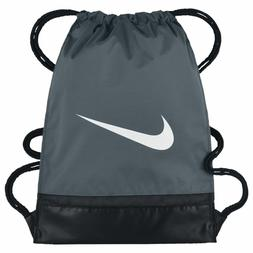 NIKE BRASILIA GYMSACK GRAY/BLACK/WHITE DRAWSTRING BAG BACKPA