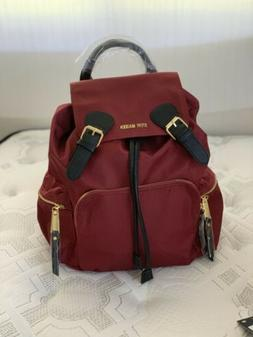 Steve Madden Bsolly Wine Red Drawstring Nylon Backpack Trave