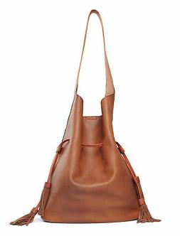 Lucky Brand Bucket Drawstring Shoulder Bag  Dark Brown