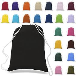 PACK OF 12 Budget Friendly 100% Cotton Wholesale Drawstring