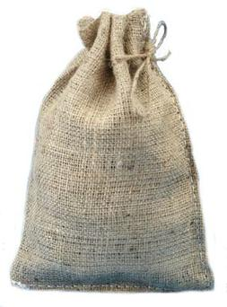 "8"" X 12"" Burlap Bags with Drawstring - Lot of 25"