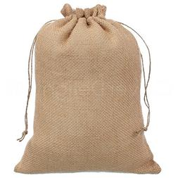 "CleverDelights 10"" x 14"" Burlap Bags with Natural Jute Draws"