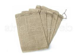 "CleverDelights 8"" x 12"" Burlap Bags with Natural Jute Drawst"