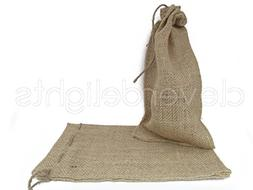 "CleverDelights 6"" x 10"" Burlap Bags with Natural Jute Drawst"