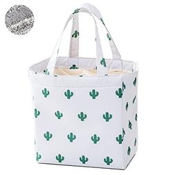 Artone Cactus Oxford Drawstring Reusable Lunch Bag Insulated
