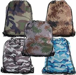 Camo Drawstring Tote Backpack | Wholesale Cinch Bags for Hun