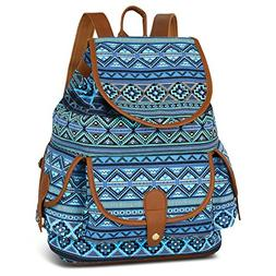 Vbiger Canvas Backpack Casual School Bag Travel Daypack for