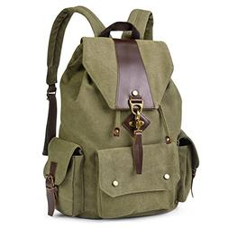 Vbiger Canvas Backpack Casual Shoulder Bag Large Capacity Tr