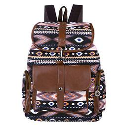 Vbiger Women Canvas Backpack Drawstring School Backpacks Cas